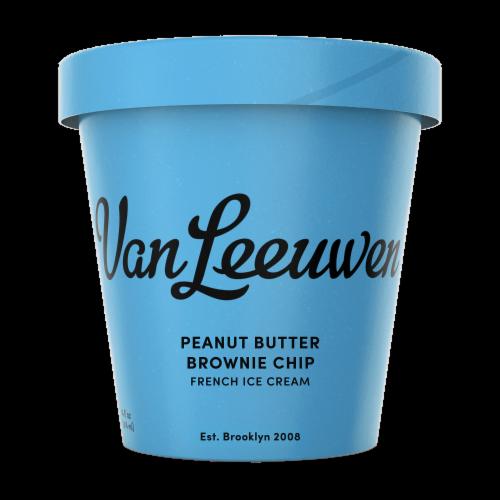 Van Leeuwen Peanut Butter Brownie Chip Ice Cream (8 Count) Perspective: front