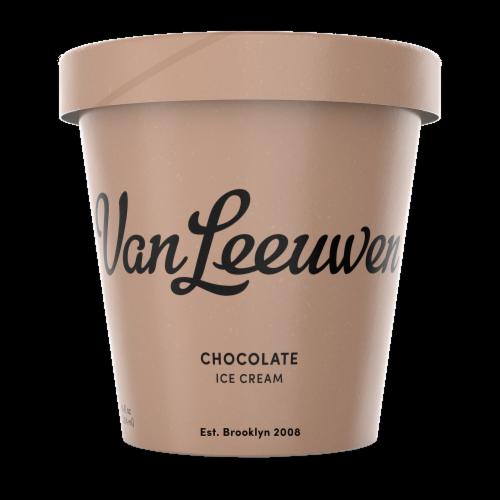 Van Leeuwen Chocolate Ice Cream (8 Count) Perspective: front