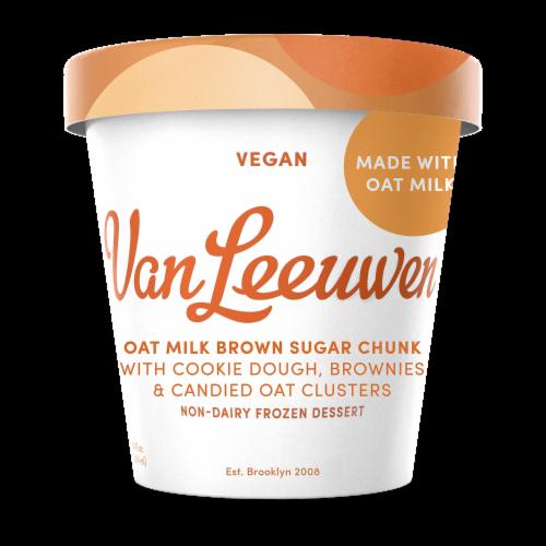 Van Leeuwen Oat Milk Vegan Brown Sugar Chunk Frozen Dessert  (8 Count) Perspective: front