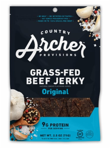 Country Archer Original Beef Jerky Perspective: front