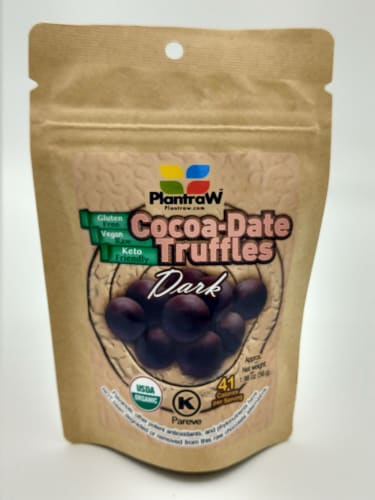 Cocoa Date Truffle Bites- Dark- 6 Pack Perspective: front