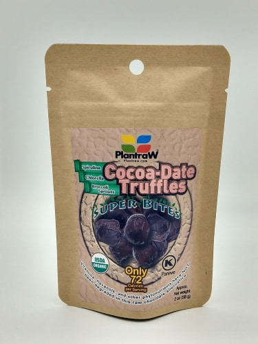 Cocoa Date Truffles- Super Bites- 6 Pack Perspective: front