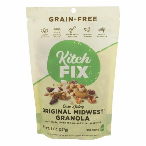 Kitchfix - Granola Green Fr Original - Case of 6 - 8 OZ Perspective: front