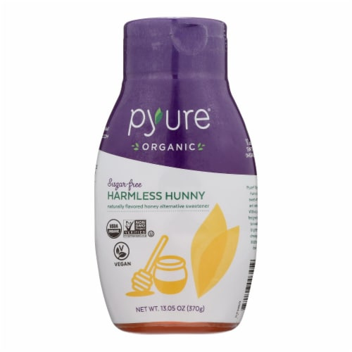 Pyure Brands Honey Flavored Sugar-Free Syrup Stevia Sweetener  - Case of 6 - 13.05 OZ Perspective: front