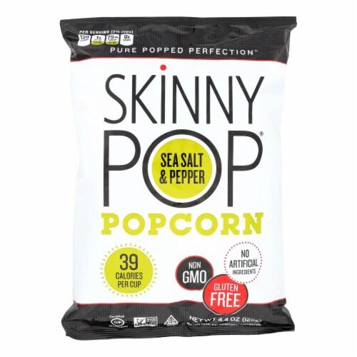 SkinnyPop Sea Salt & Black Pepper Popcorn Perspective: front