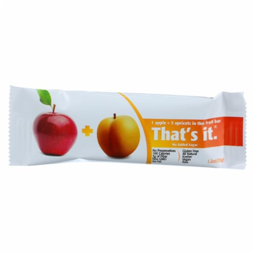 That's It Fruit Bar - Apple and Apricot - Case of 12 - 1.2 oz Perspective: front