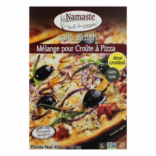 Namaste Foods Gluten Free Pizza Crust - Mix - Case of 6 - 16 oz. Perspective: front