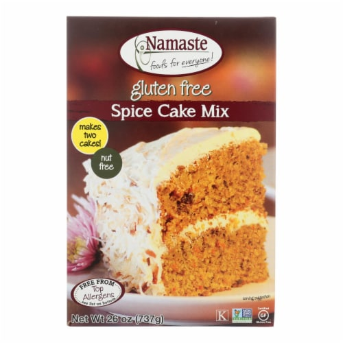 Namaste Foods Spice Carrot Cake - Mix - Case of 6 - 26 oz. Perspective: front