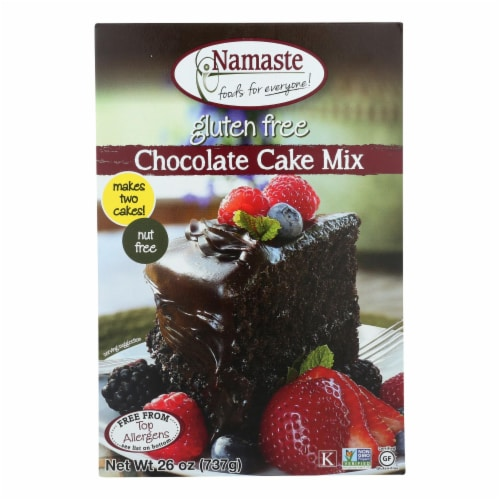 Namaste Foods Chocolate Cake - Mix - Case of 6 - 26 oz. Perspective: front