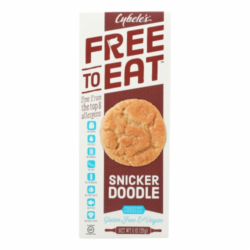 Cybel's Free To Eat Snickerdoodle Cookies - Case of 6 - 6 oz. Perspective: front
