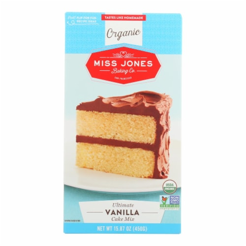 Miss Jones Baking Cake Mix - Vanilla - Case of 6 - 15.87 oz. Perspective: front