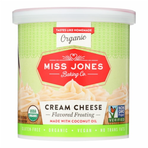 Miss Jones Baking Co Organic Cream Cheese - Case of 6 - 11.29 OZ Perspective: front