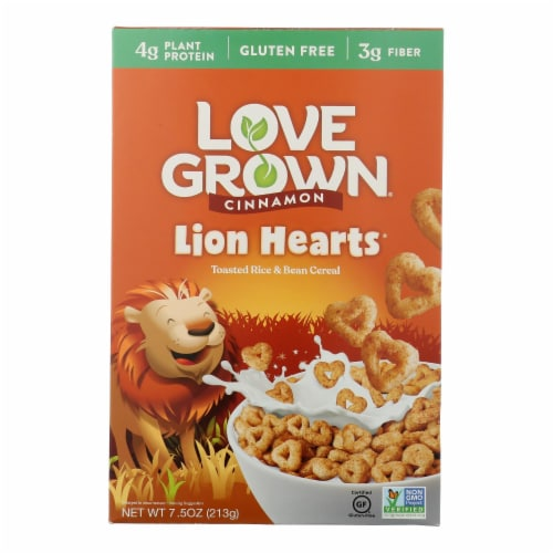 Love Grown Foods Cereal - Lion Loops - Case of 6 - 7.5 oz Perspective: front