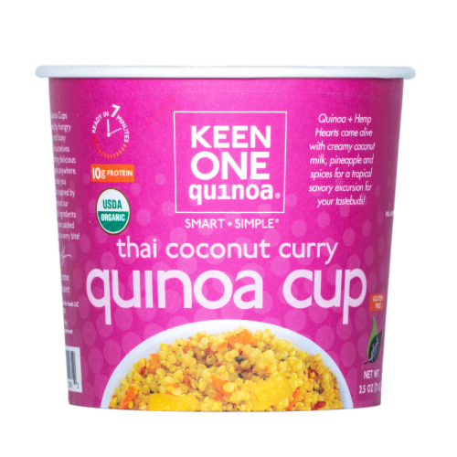 Keen One Quinoa Thai Coconut Curry Quinoa Cup Perspective: front