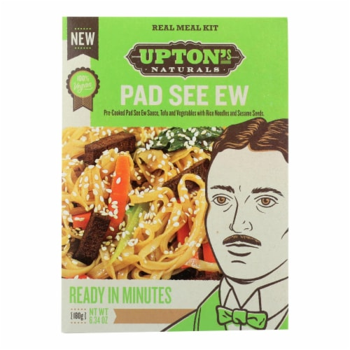 Upton's Naturals Meal Kit - Pad See Ew - Case of 6 - 6.34 oz Perspective: front