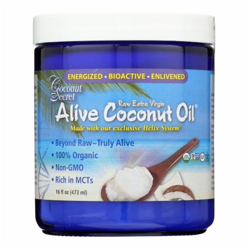 Coconut Secret - Alive Coconut Oil - Case of 6 - 16 Fl oz. Perspective: front