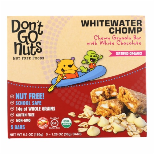 Don't Go Nuts - Bar - Whitewater Chomp Multipack - Case of 6 - 6.3 oz. Perspective: front