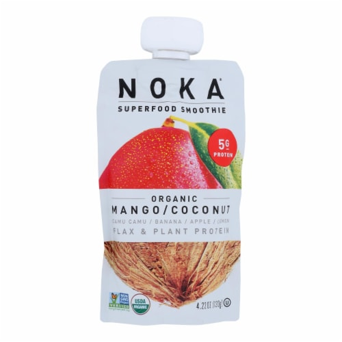 Noka Superfood Mango Coconut Blend  - Case of 6 - 4.22 OZ Perspective: front