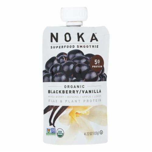 Noka Organic Blackberry/Vanilla Superfood Smoothie, Blackberry/Vanilla - Case of 6 - 4.22 OZ Perspective: front