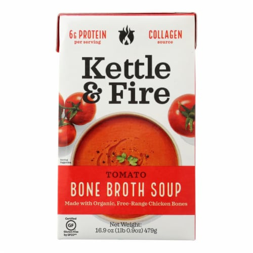 Kettle and Fire Soup - Tomato Soup - Case of 6 - 16.9 oz. Perspective: front