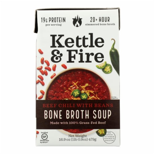 Kettle And Fire Chili With Beans - Case of 6 - 16.9 OZ Perspective: front