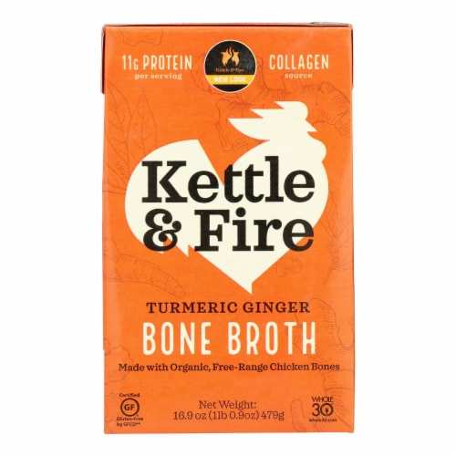 Kettle And Fire - Bone Broth Trmc Ginger Chicken - Case of 6 - 16.9 OZ Perspective: front