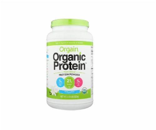 Orgain Sweet Vanilla Bean Organic Protein Powder, 2.05 lb Perspective: front