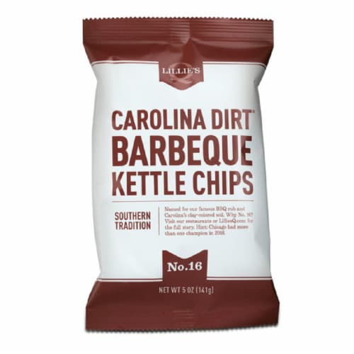 Lillie's Q Carolina Dirt BBQ Kettle Chips Southern Tradition 5oz (Pack of 12) Perspective: front