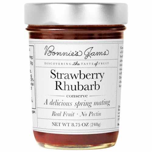 Bonnie's Jams Strawberry Rhubarb Perspective: front