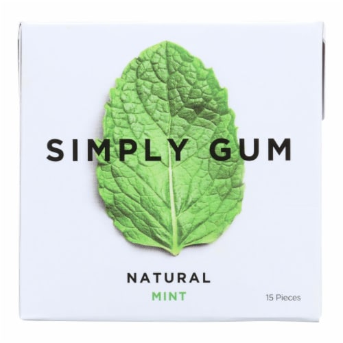 Simply Gum All Natural Gum - Mint - Case Of 12 - 15 Count Perspective: front