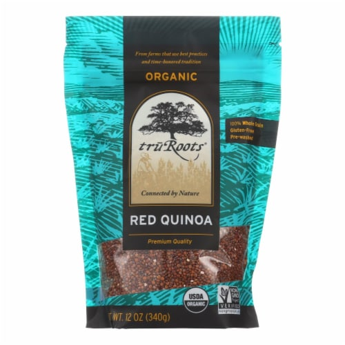 Truroots Organic Red Quinoa - Case of 6 - 12 oz. Perspective: front