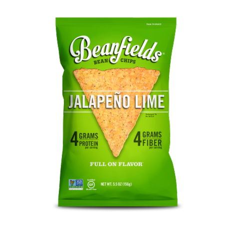 Beanfields Jalapeno Lime Bean Chips (6 Pack) Perspective: front