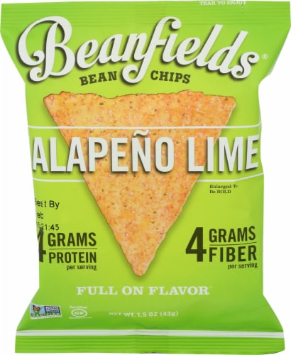 Beanfields Jalapeno Lime Bean Chips Perspective: front