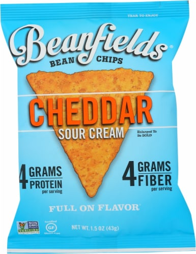 Beanfields Cheddar Sour Cream Bean Chips Perspective: front