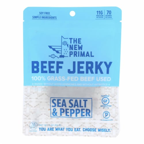 The New Primal Beef Jerky - Original - Gluten Free - 2 oz - case of 8 Perspective: front
