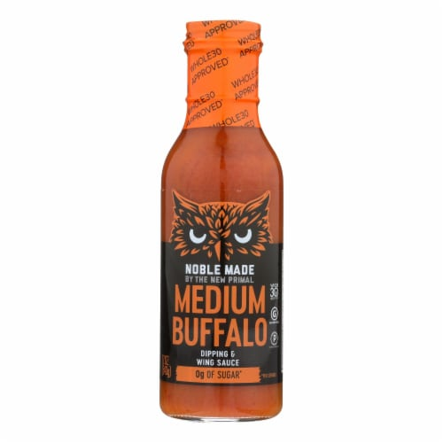 Noble Made By The New Primal Medium Buffalo Dipping & Wing Sauce - Case of 6 - 12 OZ Perspective: front