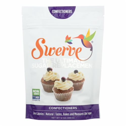 Swerve - Sweetener - Confectioners - Case of 6 - 12 oz. Perspective: front