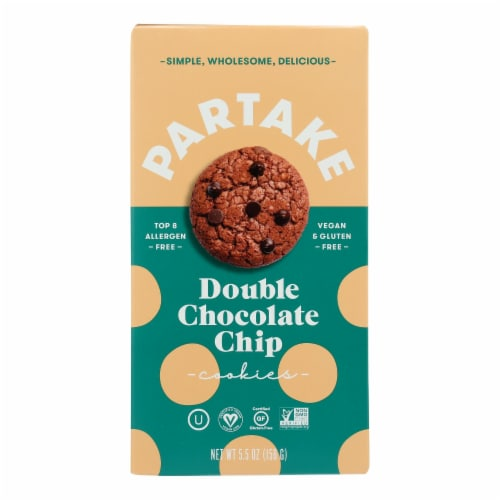 Partake Foods - Cookies Mini Double Chocolate Chips - Case of 6 - 5.5 OZ Perspective: front
