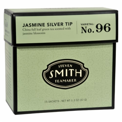 Smith Teamaker Green Tea - Jasmine Slvr Tp - Case of 6 - 15 Bags Perspective: front
