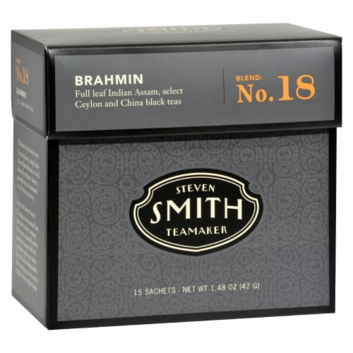 Smith Teamaker Black Tea - Brahmin - Case of 6 - 15 Bags Perspective: front