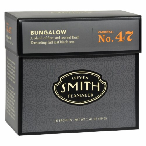 Smith Teamaker Black Tea - Bungalow - Case of 6 - 15 Bags Perspective: front