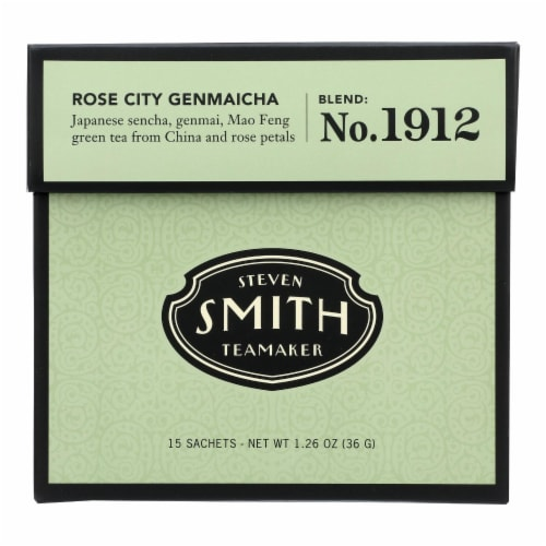 Smith Teamaker - Tea Green Rose City - Case of 6 - 15 BAG Perspective: front