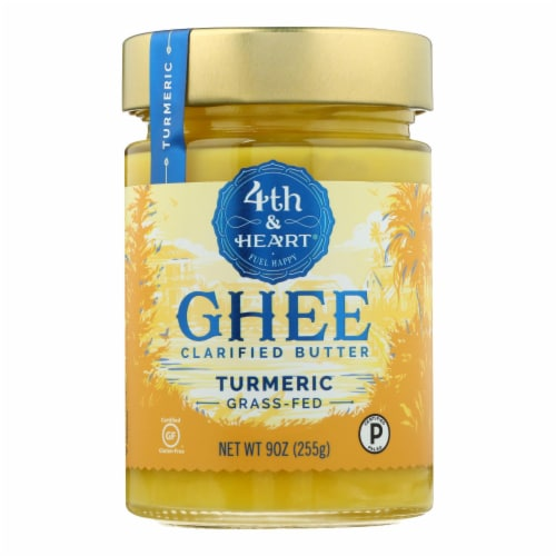 4th & Heart - Ghee - Turmeric Grass Fed - Case of 6 - 9 oz. Perspective: front