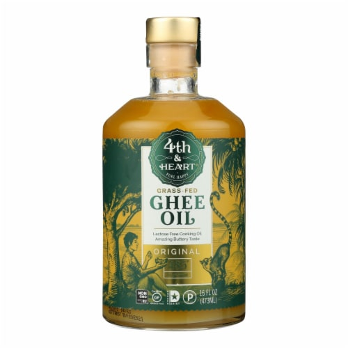 4th & Heart - Ghee Oil - Original Pourable - Case of 6 - 16 oz. Perspective: front