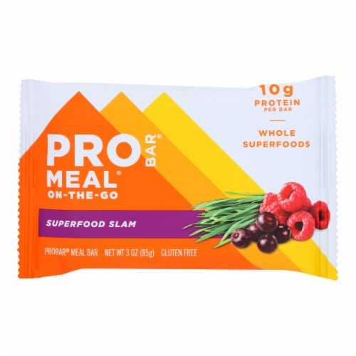 Probar Organic Superfood Slam Bar - Case of 12 - 3 oz Perspective: front