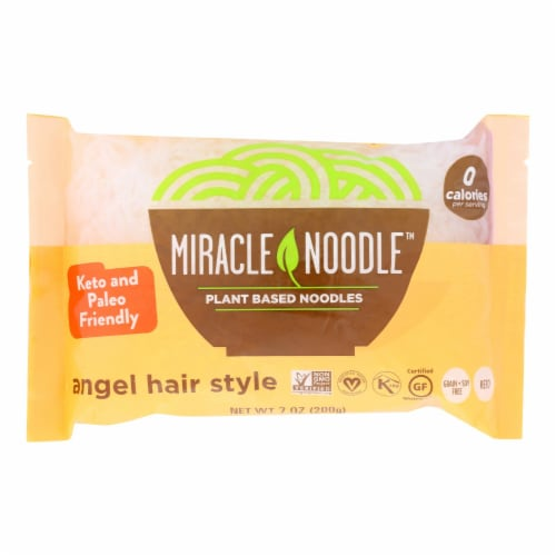 Miracle Noodle Pasta - Shirataki - Miracle Noodle - Angel Hair - 7 oz - case of 6 Perspective: front