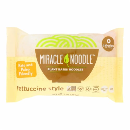 Miracle Noodle Pasta - Shirataki - Miracle Noodle - Fettuccini - 7 oz - case of 6 Perspective: front
