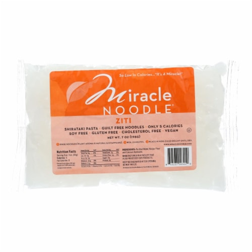 Miracle Noodle Pasta - Shirataki - Miracle Noodle - Ziti - 7 oz - case of 6 Perspective: front