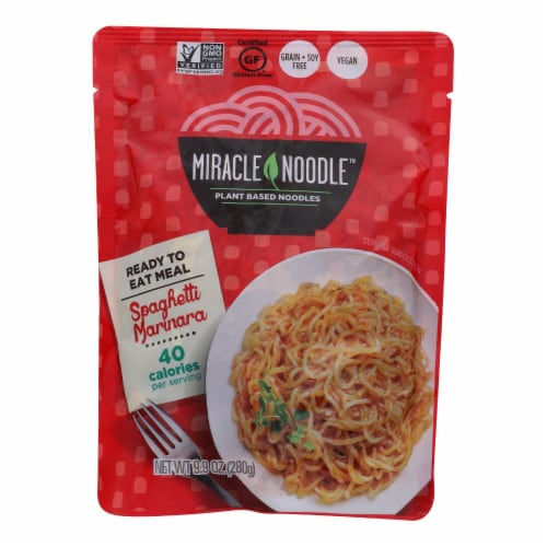 Miracle Noodle Kitchen'S Spaghetti Marinara  - Case of 6 - 10 OZ Perspective: front