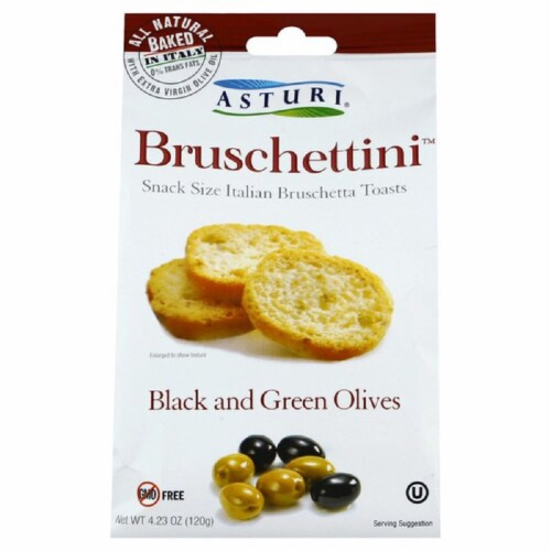 Asturi Bruschettini Black And Green Olives 4.23oz (Pk of 12) Perspective: front